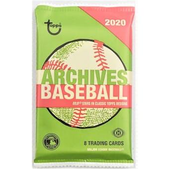 2020 Topps Archives Baseball Hobby Pack