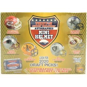 2020 TriStar Hidden Treasures Autographed Mini Helmet Football Hobby Box