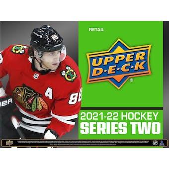 2021/22 Upper Deck Series 2 Hockey Tin (Box) Case (12 Ct.) (Presell)