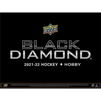2021/22 Upper Deck Black Diamond Hockey Hobby 10-Box Case (Presell)