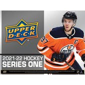 2021/22 Upper Deck Series 1 Hockey 6-Pack Blaster Box (Presell)