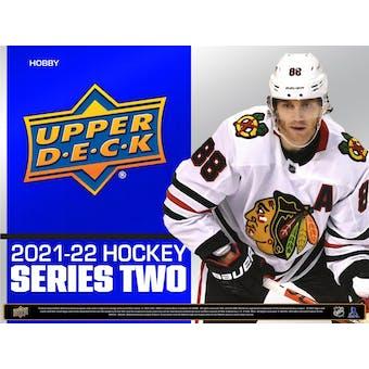 2021/22 Upper Deck Series 2 Hockey Hobby 12-Box Case (Presell)
