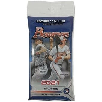 2021 Bowman Baseball Jumbo Value Pack (19 Cards)