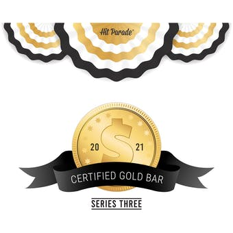 2021 Hit Parade Certified Gold Bar Edition - Series 3 - Hobby Box - All Gold Bars!