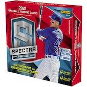 2021 Panini Spectra Baseball 1st Off The Line FOTL Hobby 8-Box Case