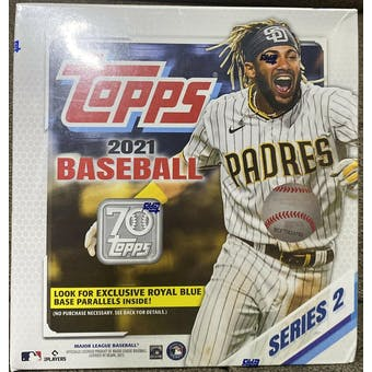 2021 Topps Series 2 Baseball Mega Box (Royal Blue Parallels!)