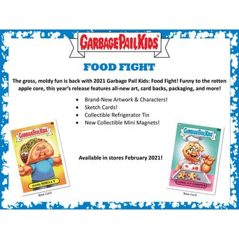 Garbage Pail Kids Food Fight Series 1 Hobby Box (Topps 2021) (Presell)