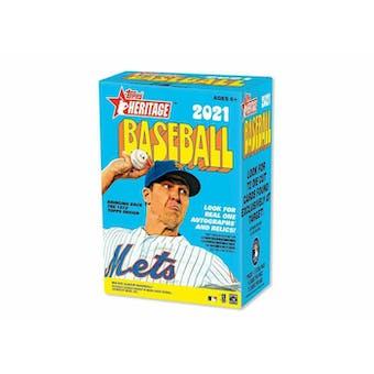 2021 Topps Heritage Baseball 8-Pack Blaster Box