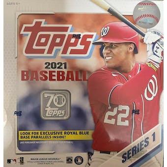 2021 Topps Series 1 Baseball Mega Box (Royal Blue Parallels!)