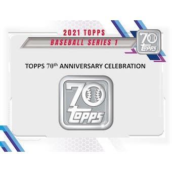 2021 Topps Series 1 Baseball Hobby Box (Presell)
