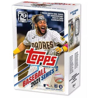 2021 Topps Series 2 Baseball 7-Pack Blaster Box (70th Anniversary Patch Card!)