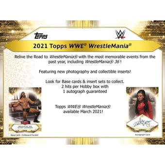 2021 Topps WWE Road to Wrestlemania Wrestling Hobby 8-Box Case (Presell)