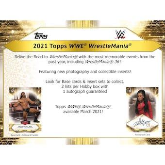 2021 Topps WWE Road to Wrestlemania Wrestling Hobby Box (Presell)