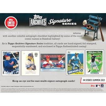 2021 Topps Archives Sig Series Retired Player Ed Baseball Case - 2021 National 20 Spot Random Hit Break #2