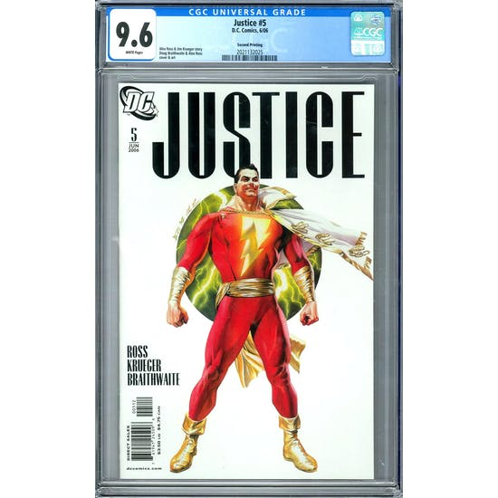 Justice #5 CGC 9.6 (W) *2021132025*