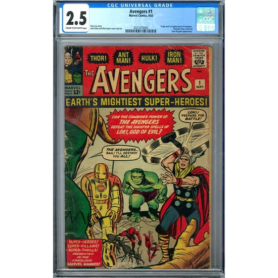 Avengers #1 CGC 2.5 (C-OW) *2021675003*