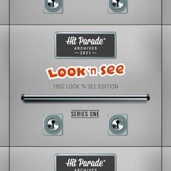 2021 Hit Parade 1952 Archives Edition - Series 1 - Hobby Box /100 - PSA Look 'N See!