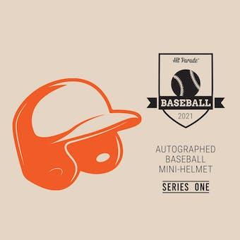 2021 Hit Parade Auto Baseball Mini Helmet Series 1- 1-Box- DACW Live 6 Spot Random Division Break #3