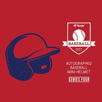 2021 Hit Parade Auto Baseball Mini Helmet Series 4- 1-Box- DACW Live 6 Spot Random Division Break #1