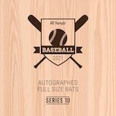 2021 Hit Parade Autographed Baseball Bat Hobby Box - Series 10 - Aaron Judge, Acuna, & Betts!!!!!