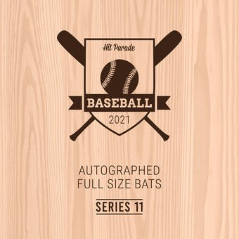 2021 Hit Parade Autographed Baseball Bat Hobby Box - Series 11 - Griffey Jr., Bonds, Acuna Jr. & Tatis Jr.!!!