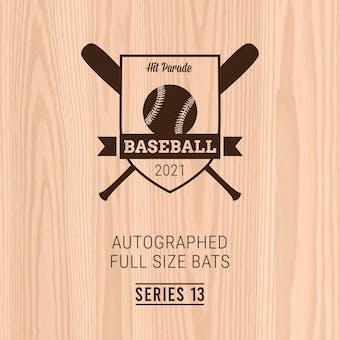 2021 Hit Parade Autographed Baseball Bat Hobby Box - Series 13 - Trout, Soto, Tatis Jr. & Bellinger!!!
