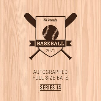2021 Hit Parade Autographed Baseball Bat Hobby Box - Series 14 - Griffey Jr., Pujols, Ichiro & Yelich!!!