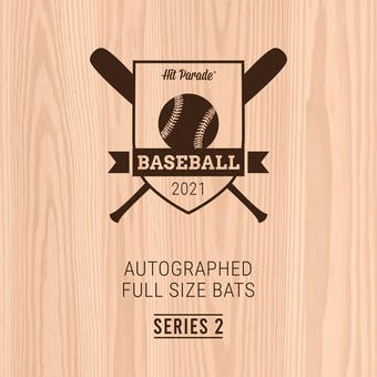 2021 Hit Parade Autographed Baseball Bat Hobby Box - Series 2 - Mike Trout, Bryce Harper & Christian Yelich!!
