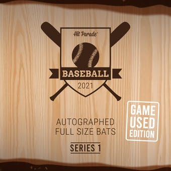 2021 Hit Parade Autographed GAME USED Baseball Bat Hobby Box - Series 1 - Mike Trout & Aaron Judge!! (PRESELL)