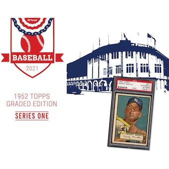 2021 Hit Parade 1952 Topps Baseball Graded Edition - Series 1 - Hobby Box /203 Mantle RC!!!