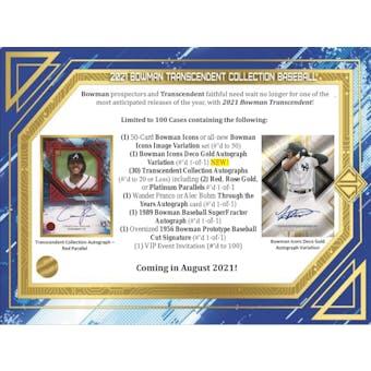 2021 Bowman Transcendent Collection Baseball Hobby Case