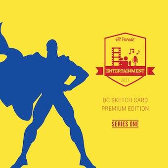 2021 Hit Parade DC Sketch Card Premium Edition Hobby Box - Series 1 - 1 DC SKETCH CARD PER BOX!