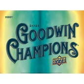 2021 Upper Deck Goodwin Champions Hobby 8-Box Case (Presell)