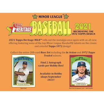 2021 Topps Heritage Minor League Baseball Hobby Box (Presell)