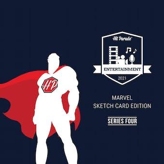 2021 Hit Parade Marvel Sketch Card Edition Hobby Box - Series 4 - 1 MARVEL SKETCH CARD PER BOX!