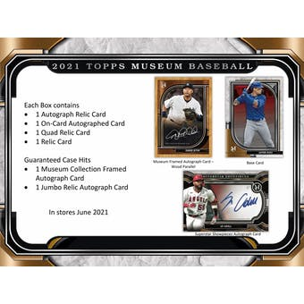 2021 Topps Museum Collection Baseball Hobby 12-Box Case (Presell)