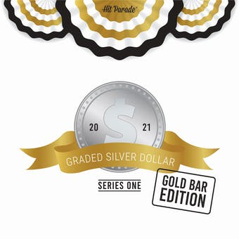 2021 Hit Parade Graded Silver Dollar GOLD Bar Edition - Series 1 - Hobby Box - NGC and PCGS Coins