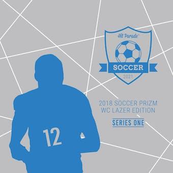2021 Hit Parade Soccer Prizm WC Lazer Edition Series 1 Hobby Box /100 Mbappe-Messi-Ronaldo