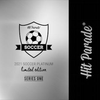 2021 Hit Parade Soccer Platinum Edition - Series 6 - Hobby 10-Box Case /100 Mbappe-Beckham-Son