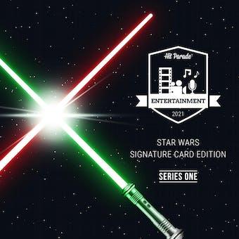 2021 Hit Parade Star Wars Signature Card Edition Hobby Box - Series 1 - George Takei & Peter Mayhew Autos!!