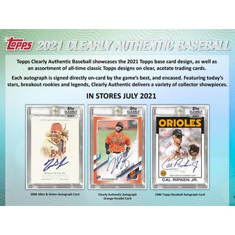 2021 Topps Clearly Authentic Baseball 20-Box Case - 2021 National 6 Spot Random Division Break #2