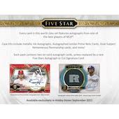2021 Topps Five Star Baseball Hobby 8-Box Case (Presell)
