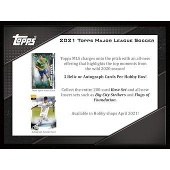 2021 Topps MLS Major League Soccer Hobby 12-Box Case (Presell)