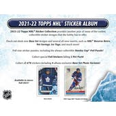 2021/22 Topps NHL Hockey Sticker Collection 16-Box Case (Presell)
