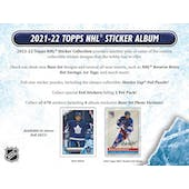 2021/22 Topps NHL Hockey Sticker Collection Album (Presell)