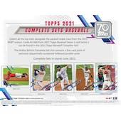 2021 Topps Factory Set Baseball Retail (Box) (Presell)