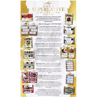 2021 Leaf Superlative Collection Hockey Hobby 10-Box Case (Presell)