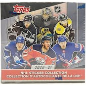 2020/21 Topps NHL Hockey Sticker Collection Box