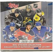 2020/21 Topps NHL Hockey Sticker Collection 16-Box Case