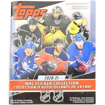 2020/21 Topps NHL Hockey Sticker Collection Album